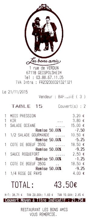 Le restaurant Les Bons Amis