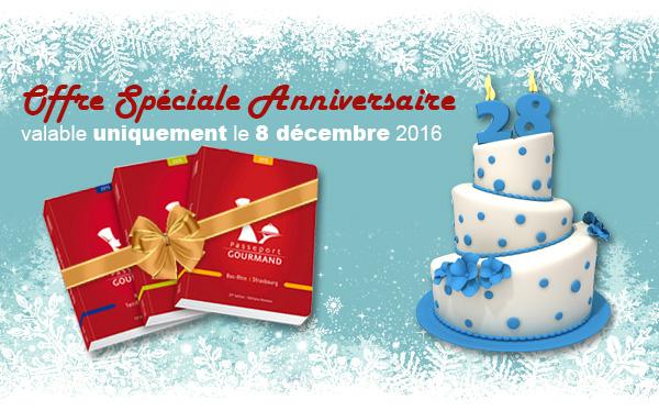 Offre spéciale anniversaire