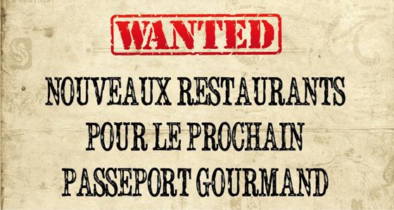 Wanted : nouveaux restaurants pour le prochain passeport gourmand
